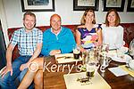 Enjoying the evening in the Brogue Inn on Thursday, l to r: Mick O'Brien, Shane and Maeve Dawson and Bridget O'Brien.