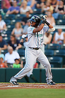 Daytona Tortugas first baseman Robert Ramirez (25) at bat during a game against the Fort Myers Miracle on June 17, 2015 at Hammond Stadium in Fort Myers, Florida.  Fort Myers defeated Daytona 9-5.  (Mike Janes/Four Seam Images)