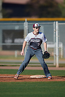 Brant Schulze during the Under Armour All-America Pre-Season Tournament, powered by Baseball Factory, on January 19, 2019 at Sloan Park in Mesa, Arizona.  Brant Schulze is a first baseman / third baseman from Plainfield, Illinois who attends Plainfield North High School.  (Mike Janes/Four Seam Images)