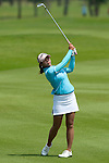 CHON BURI, THAILAND - FEBRUARY 19:  Pornanong Phatlum of Thailand playes her second shot on the 1st hole during day three of the LPGA Thailand at Siam Country Club on February 19, 2011 in Chon Buri, Thailand.  Photo by Victor Fraile / The Power of Sport Images