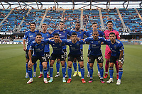 SAN JOSE, CA - AUGUST 17: San Jose Earthquakes starting eleven before a game between Minnesota United FC and San Jose Earthquakes at PayPal Park on August 17, 2021 in San Jose, California.