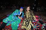 RICCARDO VILLARI E SIGNORA<br /> FESTA DI PRESENTAZIONE DEL CALENDARIO DI MEO -  <br /> PALAZZO KADIRI  MARRAKECH 2010