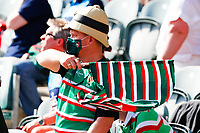 5th June 2021; Mattioli Woods Welford Road Stadium, Leicester, Midlands, England; Gallagher Premiership Rugby, Leicester Tigers versus Bristol Bears; A Leicester Tigers supporter waves a flag after the final whistle