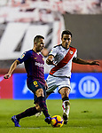 Arthur Henrique Ramos de Oliveira Melo of FC Barcelona battles for the ball with Oscar Guido Trejo, M L S Trejo, of Rayo Vallecano during the La Liga 2018-19 match between Rayo Vallecano and FC Barcelona at Estadio de Vallecas, on November 03 2018 in Madrid, Spain. Photo by Diego Gouto / Power Sport Images