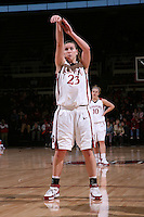 30 December 2007: Jeanette Pohlen during Stanford's 77-42 win over the University of Washington at Maples Pavilion in Stanford, CA.