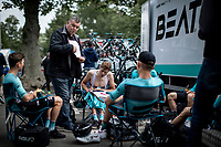 Team Beat Cycling Club pre race briefing.<br /> <br /> GP Marcel Kint 2019 (BEL)<br /> One Day Race: Kortrijk – Zwevegem 188.10km. (UCI 1.1)<br /> Bingoal Cycling Cup 2019