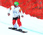 14/03/2014. Canadian Ian Lockey competes in the men's para snowboard cross standing event at the 2014 Sochi Paralympic Winter Games in Sochi, Russia.(Photo: Scott Grant/Canadian Paralympic Committee)
