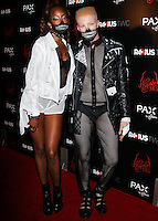 HOLLYWOOD, LOS ANGELES, CA, USA - OCTOBER 30: Keenyah Hill, Shaun Ross arrive at the Los Angeles Premiere Of RADiUS-TWC's 'Horns' held at ArcLight Hollywood on October 30, 2014 in Hollywood, Los Angeles, California, United States. (Photo by Celebrity Monitor)