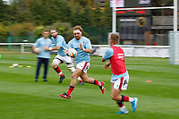 Billy Harding of London Scottish during the Championship Cup match between London Scottish Football Club and Nottingham Rugby at Richmond Athletic Ground, Richmond, United Kingdom on 28 September 2019. Photo by Carlton Myrie / PRiME Media Images