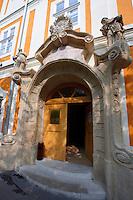 Baroque doorway of Pal Tomari school - Kalosca Hungary