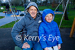 Enjoying the playground in the Tralee town park on Sunday, l to r: Terry and Braydan Andrews