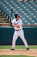 Bowie Baysox T.J. Nichting (49) at bat during an Eastern League game against the Akron RubberDucks on May 30, 2019 at Prince George's Stadium in Bowie, Maryland.  Akron defeated Bowie 9-5.  (Mike Janes/Four Seam Images)