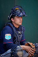 Minnesota Twins catcher John Ryan Murphy (12) during a Spring Training practice on March 1, 2016 at Hammond Stadium in Fort Myers, Florida.  (Mike Janes/Four Seam Images)