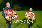 John Kerins and Fiona Costello with the two remaining hampers to be raffled by St Pats Blennerville GAA over the next 2 weeks.