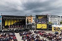Team Alpecin-Fenix at the pre Tour teams presentation of the 108th Tour de France 2021 in Brest at le Grand Départ.<br /> <br /> 108th Tour de France 2021<br /> <br /> ©kramon