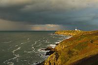 Europe/France/Bretagne/35/Ille et Vilaine/Env de Cancale: La Pointe du Grouin  et son sémaphore   // France, Ille et Vilaine, cote d'emeraude (Emerald Coast), Cancale, Pointe du Grouin and semaphore