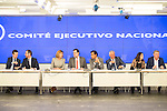 Pablo Casado, Maria Dolores de Cospedal, Mariano Rajoy, Fernando Martinez Maillo, Javier arenas and Andrea Levy during the meeting with the national executive committee of Partido Popular at Genova in Madrid. May 03, 2016. (ALTERPHOTOS/Borja B.Hojas)