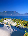 South Africa, view from Bloubergstrand at Cape Town and Table Mountain