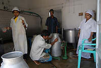 "Asien Suedasien Bangladesh Bogra , Kleinbauern erhalten Mikrokredite von Grameen Bank fuer Milchviehhaltung , die Milch kauft Firma Danone zur Produktion des Joghurt Shakti Doi , angereichert mit Vitamine und Mineralstoffen   -  Landwirtschaft Mikrofinanzierung Nahrungsmittel Milch Milchproduktion xagndaz | .South asia Bangladesh Bogra , project between Danone and Grameen bank , Danone produce yoghurt with vitamine from milk supplied by small farmer who received micro-credit from Grameen Shakti , retail shop in Bogra - microfinance agriculture nutrition food milk .| [ copyright (c) Joerg Boethling / agenda , Veroeffentlichung nur gegen Honorar und Belegexemplar an / publication only with royalties and copy to:  agenda PG   Rothestr. 66   Germany D-22765 Hamburg   ph. ++49 40 391 907 14   e-mail: boethling@agenda-fototext.de   www.agenda-fototext.de   Bank: Hamburger Sparkasse  BLZ 200 505 50  Kto. 1281 120 178   IBAN: DE96 2005 0550 1281 1201 78   BIC: ""HASPDEHH"" ,  WEITERE MOTIVE ZU DIESEM THEMA SIND VORHANDEN!! MORE PICTURES ON THIS SUBJECT AVAILABLE!! ] [#0,26,121#]"