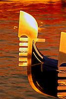 Italy, Venice, Bow of gondola (ferro