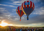 The National Anthem was played as the flag balloons rose during the Great Reno Balloon Races held on Saturday, Sept. 8, 2018.