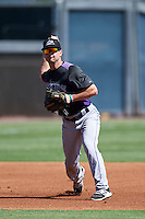 Colorado Rockies Max George (18) during an Instructional League game against SK Wyvern of Korea on October 5, 2016 at Salt River Fields at Talking Stick in Scottsdale, Arizona.  (Mike Janes/Four Seam Images)