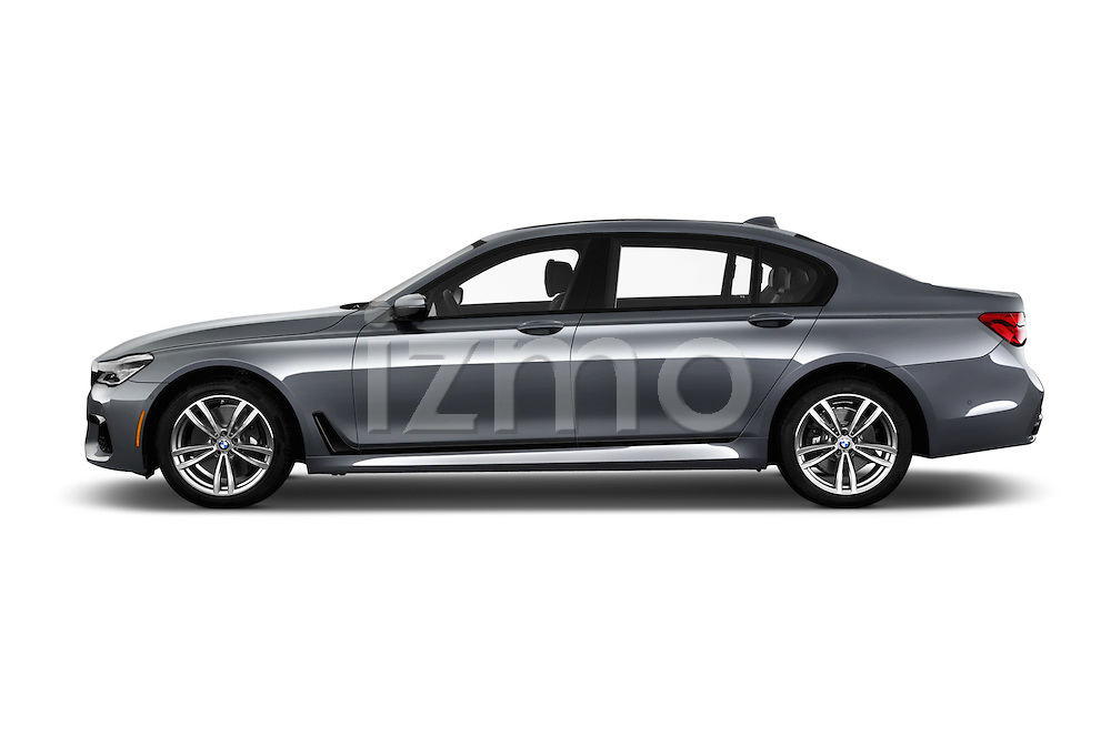 Car Driver side profile view of a 2016 BMW 7 Series M Sport 4 Door Sedan Side View