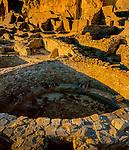 Kiva, Ruins, Pueblo Bonita, Chaco Culture National Historical Park, NM