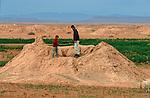 Puits artésien (foggara) près de Rissani et d'ErfoudGrand sud marocain. Maroc