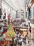Toronto Eaton Centre shopping mall full of people on Boxing day in 2011. Toronto, Ontario, Canada.