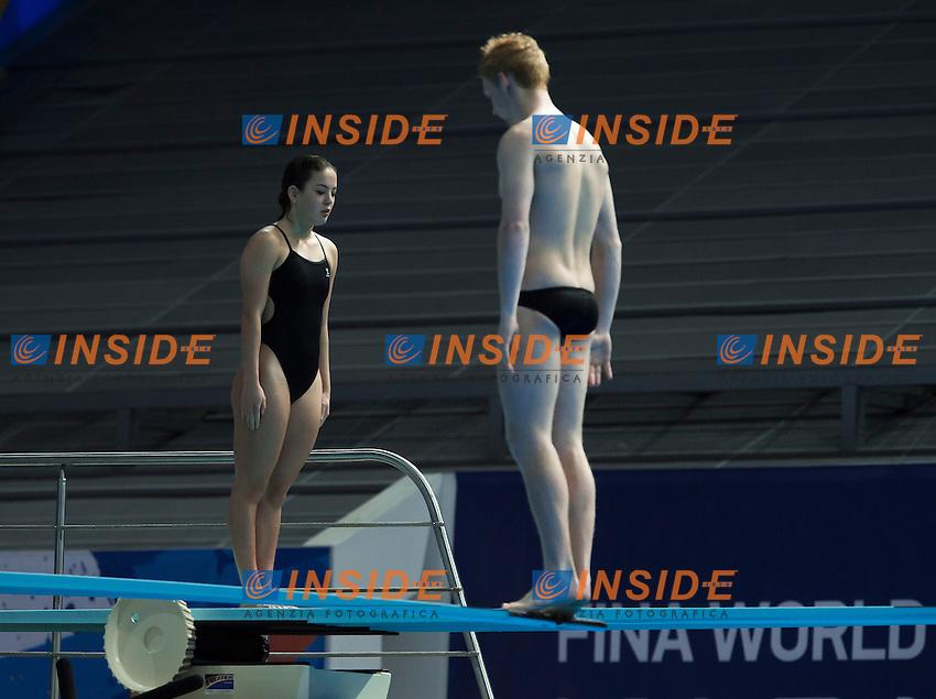 STONE Liam and CUI Elizabeth NZL<br /> Diving - Mixed 3m Synchro springboard final<br /> Day 10 02/08/2015<br /> XVI FINA World Championships Aquatics Swimming<br /> Kazan Tatarstan RUS July 24 - Aug. 9 2015 <br /> Photo Giorgio Perottino/Deepbluemedia/Insidefoto