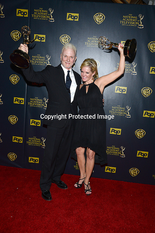 Tony Geary & Maura West attends the 42nd Annual Daytime Emmy Awards Press Room on April 26, 2015 at Warner Bros Studio in Burbank, California, USA