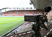 Sky TV Cameras in place ahead of kick-off during Brentford vs Rotherham United, Sky Bet EFL Championship Football at the Brentford Community Stadium on 27th April 2021
