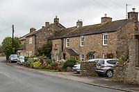 UK, England, Yorkshire.  Village Houses, Grinton.