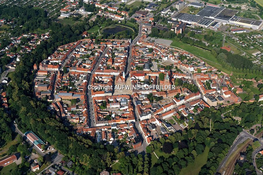 Wittstock: EUROPA, DEUTSCHLAND, BRANDENBURG (EUROPE, GERMANY),  06.07.2013: Stadtblick, Wittstock
