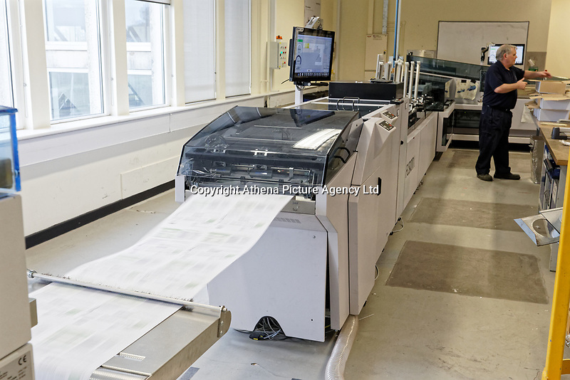 Pictured: One of the printing facilities. Wednesday 29 May 2019<br /> Re: DVLA in Swansea, Wales, UK.