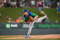 Starting pitcher Collin Snider (40) of the Lexington Legends delivers a pitch during a game against the Greenville Drive on Sunday, September 2, 2018, at Fluor Field at the West End in Greenville, South Carolina. Greenville won, 7-4. (Tom Priddy/Four Seam Images)