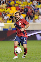 Kyle Beckerman (6) of the United States. The men's national team of the United States (USA) was defeated by Ecuador (ECU) 1-0 during an international friendly at Red Bull Arena in Harrison, NJ, on October 11, 2011.