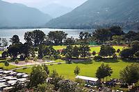 Switzerland. Canton Ticino. Tenero. Centro Sportivo Nazionale della Gioventù - Tenero (CST). Nationales Jugendsportzentrum Tenero. Lago Maggiore and the swiss alps. 02.06.11 © 2011 Didier Ruef