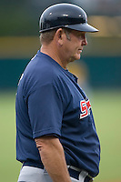 Huntsville Stars manager Don Money (7) in the third base coaches box at the Baseball Grounds in Jacksonville, FL, Wednesday June 11, 2008.