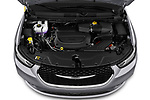 Car Stock 2021 Chrysler Pacifica Touring-L 5 Door Minivan Engine  high angle detail view