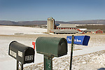 Winter barn with mailboxes, Union County