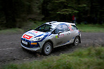 14th September 2012 - Devils Bridge - Mid Wales : WRC Wales Rally GB SS6 Myherin stage : Mathieu Arzeno (FRA) and Renaud Jamoul (Bel) in their Citroen DS3 R3T.