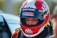 Sep 22, 2018; Madison, IL, USA; NHRA top fuel driver Doug Kalitta during qualifying for the Midwest Nationals at Gateway Motorsports Park. Mandatory Credit: Mark J. Rebilas-USA TODAY Sports