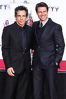 HOLLYWOOD, CA - DECEMBER 03: Ben Stiller, Tom Cruise attending the Ben Stiller Hand/Footprint Ceremony held at TCL Chinese Theatre on December 3, 2013 in Hollywood, California. (Photo by Xavier Collin/Celebrity Monitor)