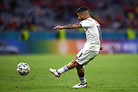 2nd July 2021; Allianz Arena, Munich, Germany; European Football Championships, Euro 2020 quarterfinals, Belgium versus Italy;  The goal scored by Lorenzo Insigne for 2-0