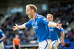 St Johnstone v Dundee United...19.04.14    SPFL<br /> Steven Anderson celebrates his goal<br /> Picture by Graeme Hart.<br /> Copyright Perthshire Picture Agency<br /> Tel: 01738 623350  Mobile: 07990 594431