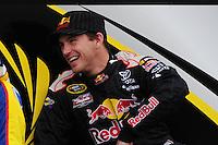 Feb 22, 2009; Fontana, CA, USA; NASCAR Sprint Cup Series driver Scott Speed during the Auto Club 500 at Auto Club Speedway. Mandatory Credit: Mark J. Rebilas-