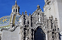 Balboa Park: Museum of Man,  Architect Bertram Goodhue. Churriqueresque style,1915.  Photo Jan. 1987.