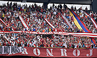 BOGOTÁ -COLOMBIA, 18-01-2015. Aspecto del encuentro entre Unión Magdalena y América de Cali por la fecha 2 de los cuadrangulares de ascenso Liga Aguila 2015 jugado en el estadio El Campín de la ciudad de Bogotá./ Aspect of the match between Union Magdalena and America de Cali for the second date of the promotional quadrangular Aguila League 2015 played at El Campin stadium in Bogotá city. Photo: VizzorImage/ Gabriel Aponte / Staff